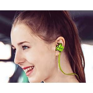 Bluedio TE Sporty HiFi Mega Bass Earhook Bluetooth Wireless Headset - Green