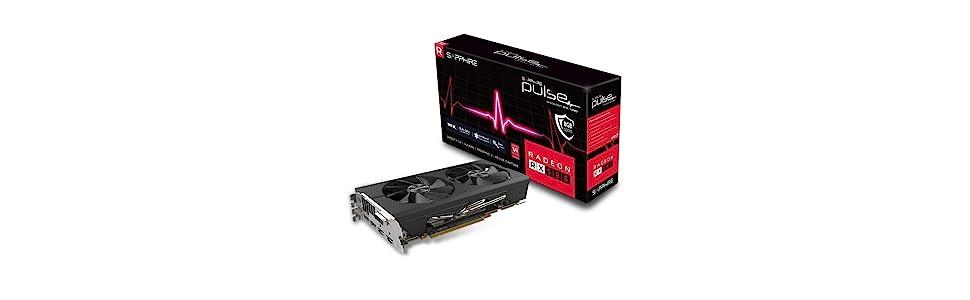 Sapphire Pulse Radeon RX 580 8GD5 - Tarjeta gráfica, AMD, 3840 x 2160 Pixeles, 1366 MHz, 8 GB, GDDR5