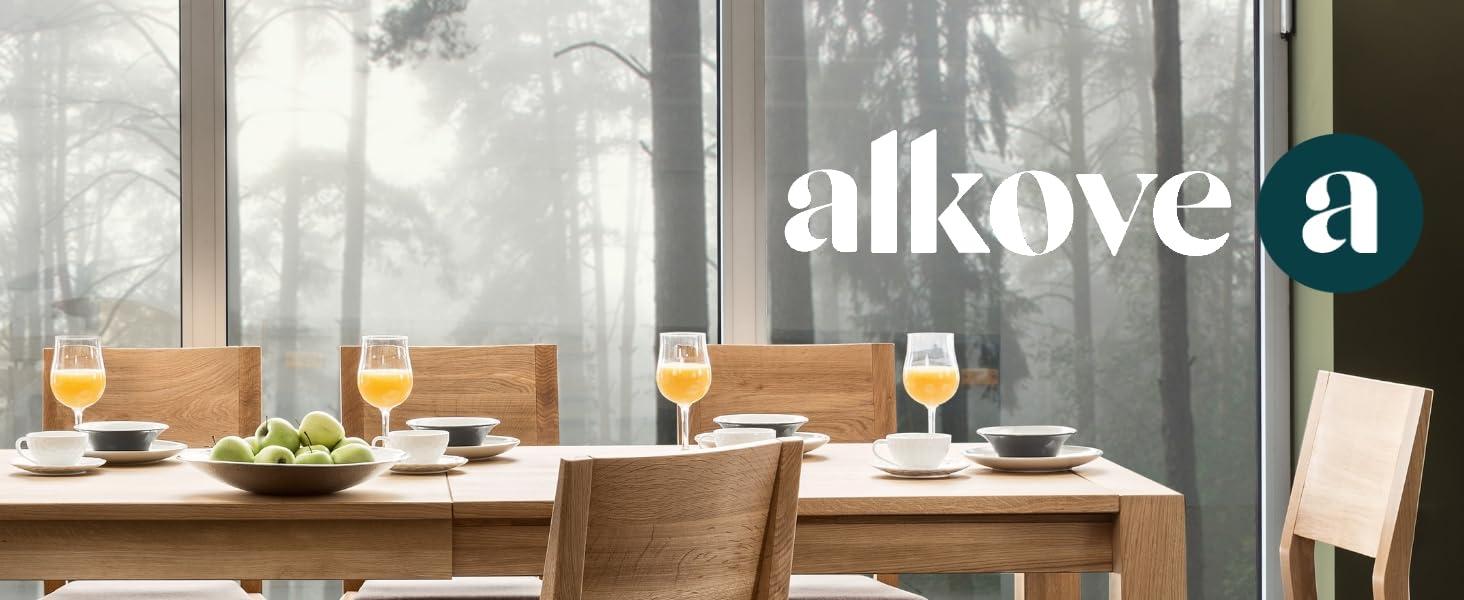 Alkove - Hayes - Set de 2 sillas de comedor de madera maciza ...