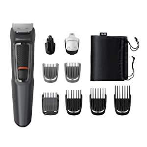 Philips MULTIGROOM Series 3000 Cara y cabello 9 en 1 MG3757/15 - Afeitadora (Acero inoxidable, 70 min, Integrado): Amazon.es: Salud y cuidado personal