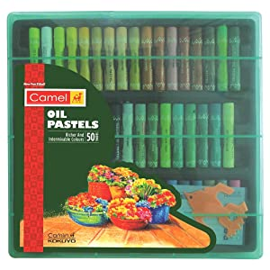Camel Oil Pastel with Reusable Plastic Box