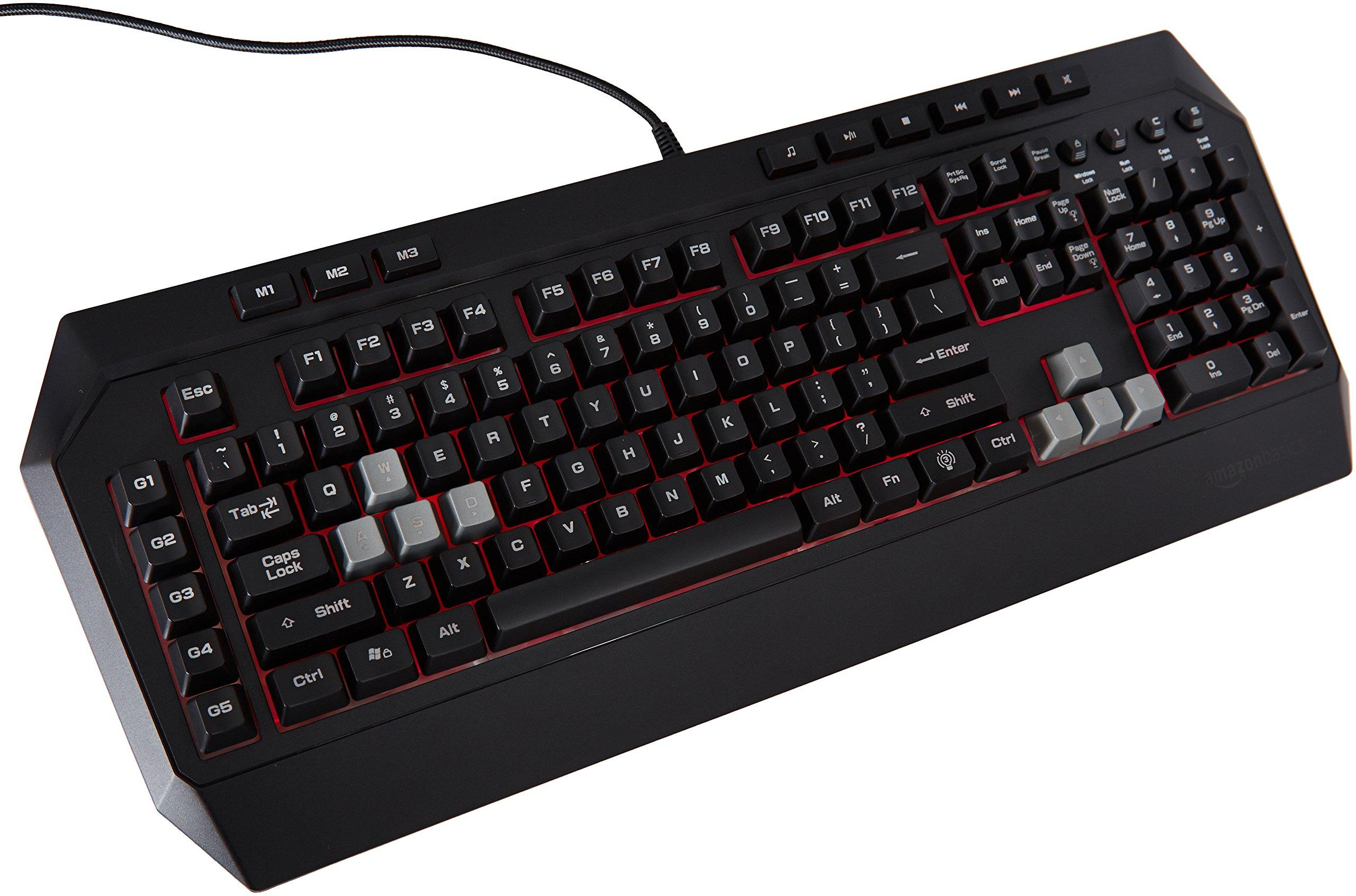 Amazon.com: AmazonBasics Mechanical Feel Gaming Keyboard