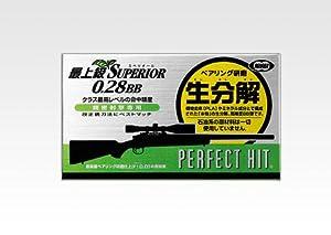 東京マルイ No.34 パーフェクトヒット 最上級スペリオールバイオ 0.28g BB弾 500発入