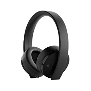Sony gold wireless headset 7.1 surround sound for PlayStation – Black.