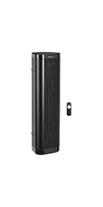 """AmazonBasics 22"""" 1500W Ceramic Tower Space Heater with Remote"""