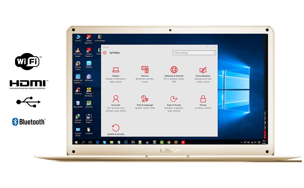 Enno E100 LeapBook Laptop Intel Atom Cherry Trail Quad Core Z8350 14.1 inch screen 32GB 2GB RAM