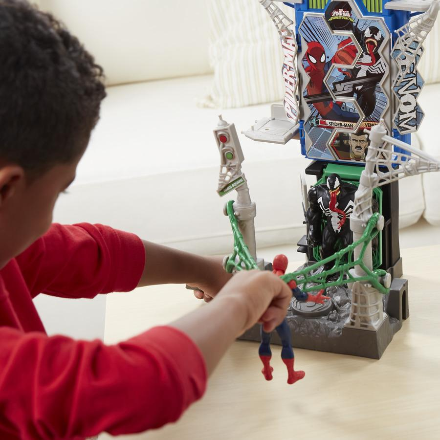 SPIDER-MAN B7198EU40 Marvel Web City Showdown Play Set