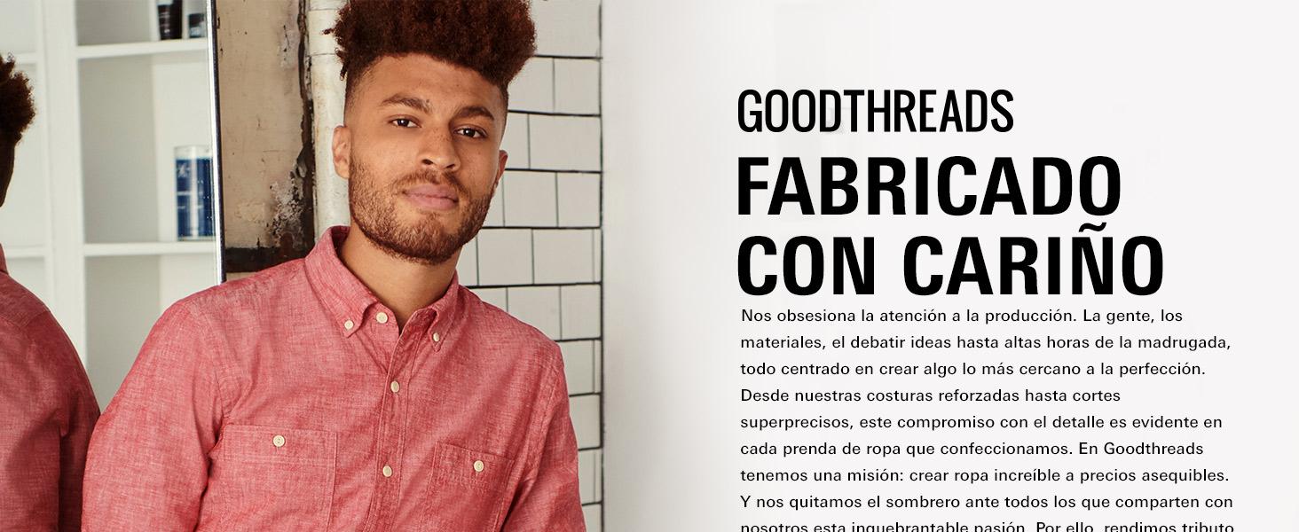 Goodthreads Marca Pantalones chinos de vestir antiarrugas de corte atl/ético para hombre