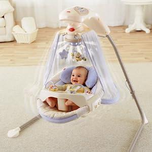 Amazon.com: Fisher-Price Papasan cuna columpio, Starlight: Baby