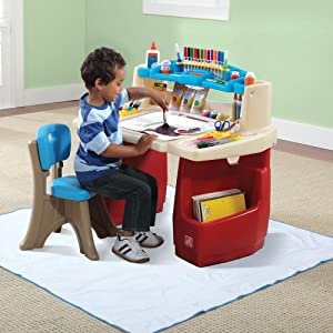 Amazon Com Step2 Deluxe Art Master Desk Toys Amp Games