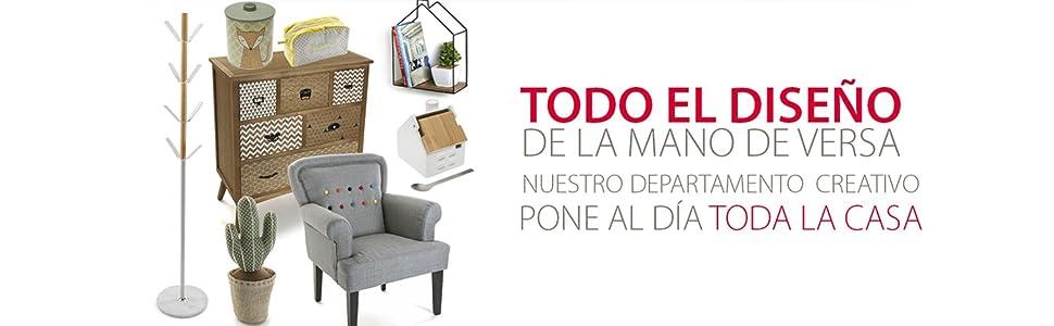 Versa 2010000 Cómoda, Madera, Gris: Amazon.es: Hogar