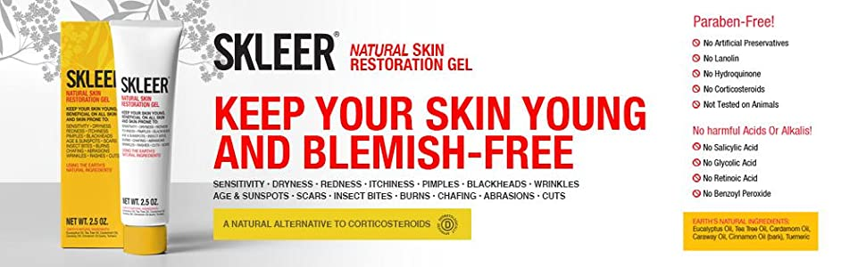 SKLEER 1 0 oz: Natural African Magic Gel  Keeps Skin Young