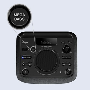 Mega Bass Button for deep bass