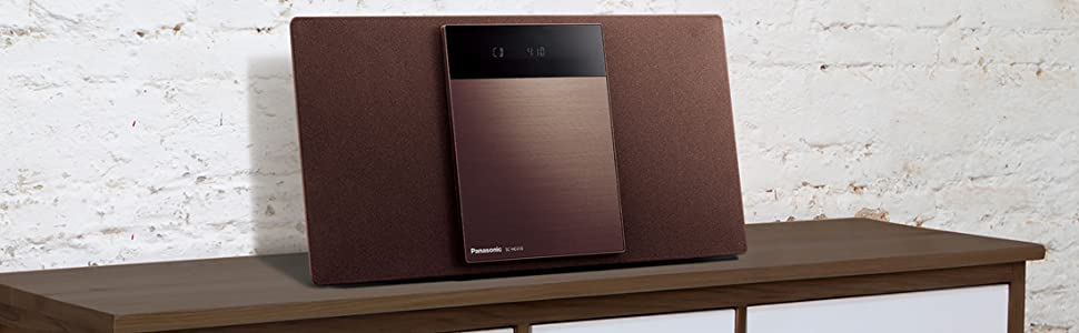 「デジタル5チェンジャー」搭載、置き場所自由で高音質な薄型のステレオシステム