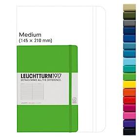 Leuchtturm1917 - Cuaderno (A5, 249 páginas, de puntos, tapa dura, tamaño mediano), color amarillo