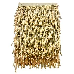 golden tessals, golden laces, decor items