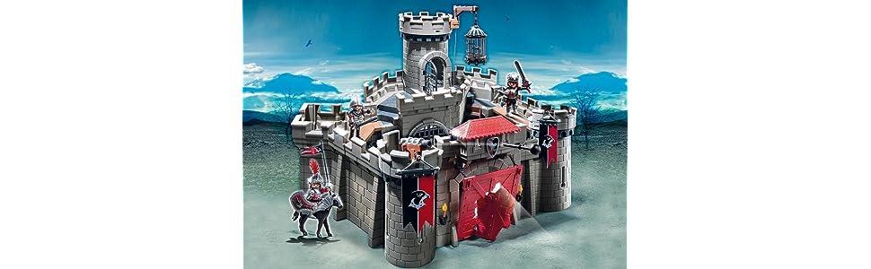 PLAYMOBIL Caballeros - Playset Castillo (6001): Amazon.es: Juguetes y juegos