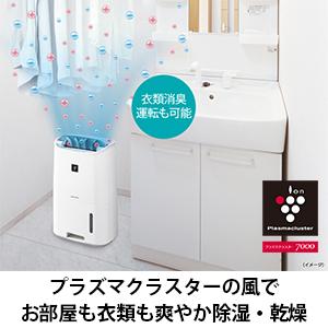 シャープ全自動洗濯機 4.5kg ステンレス槽 ブラウン系 ES-GE4C-T + プラズマクラスター 衣類乾燥 除湿機 CV-H71-W