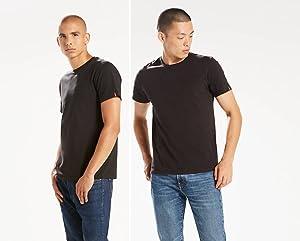Frente de camiseta básica Negra interior de hombre Levis