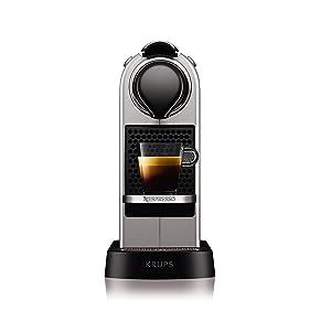 Nespresso Krups Citiz XN740B - Cafetera monodosis de cápsulas Nespresso, compacta, 19 bares, apagado automático ...