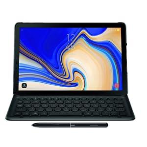 Samsung Electronics Ej Ft830ubeguj Galaxy Tab S4 Book Cover Keyboard Black Computers Accessories