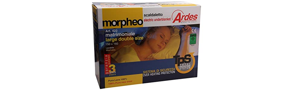 Ardes Medicura 423 Scaldaletto Matrimoniale Morpheo.Ardes Medicura Ar422 Scaldaletto Matrimoniale Morpheo 100 Pura Lana