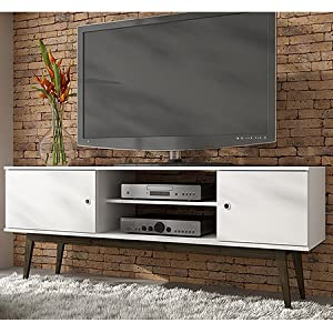 BRV Moveis TV Table for 50 inch TV - White (H 58.5 cm x W 150 cm x D 38 cm)