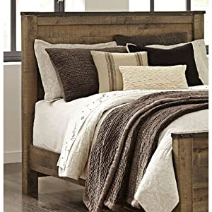 10f1aa014fe4ef Ashley Furniture Signature Design - Trinell Queen Panel Headboard -  Component Piece - Brown