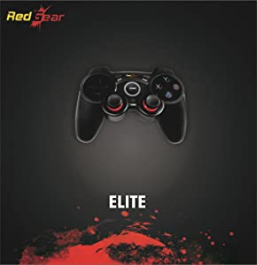 Redgear Elite Wireless Gamepad with Ultra-Precise VR, Vibration Feedback, Smooth AXBY Keys for PC(Black)