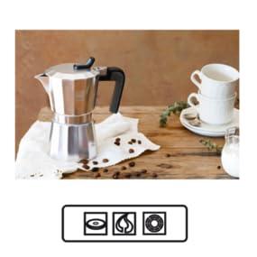 BRA CAFETERA DE Luxe 2, Aluminio, Plata, 12 Tazas