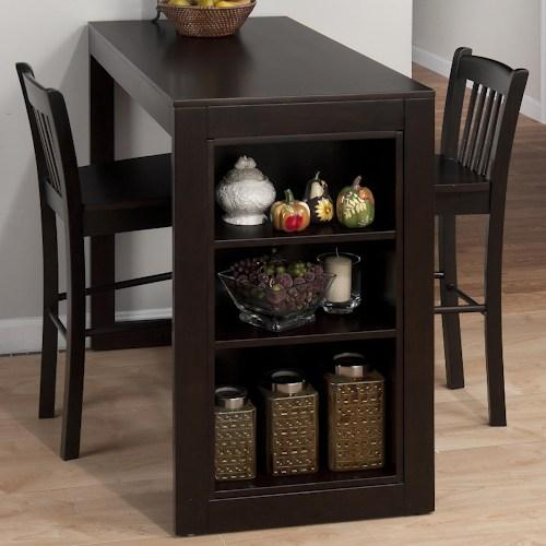 Maryland Merlot Counter Height Table with 3 Shelves for Storage & Amazon.com: Jofran 810-48 Maryland Merlot Counter Height Table with ...
