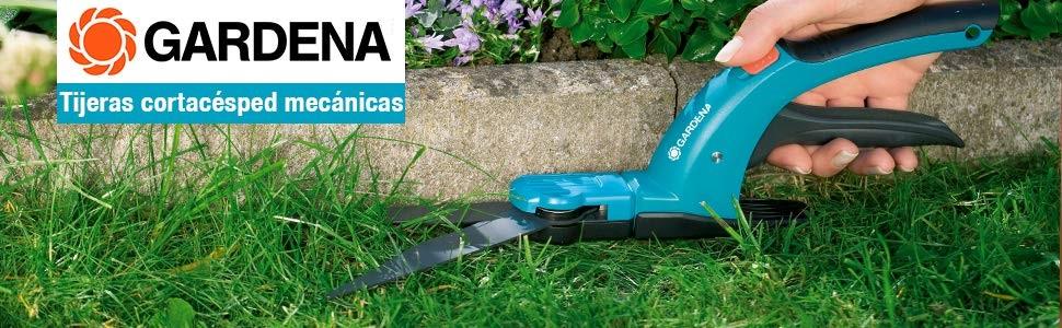 Gardena 12100-20 - Tijeras para césped con mango, protegen la espalda, cómoda empuñadura
