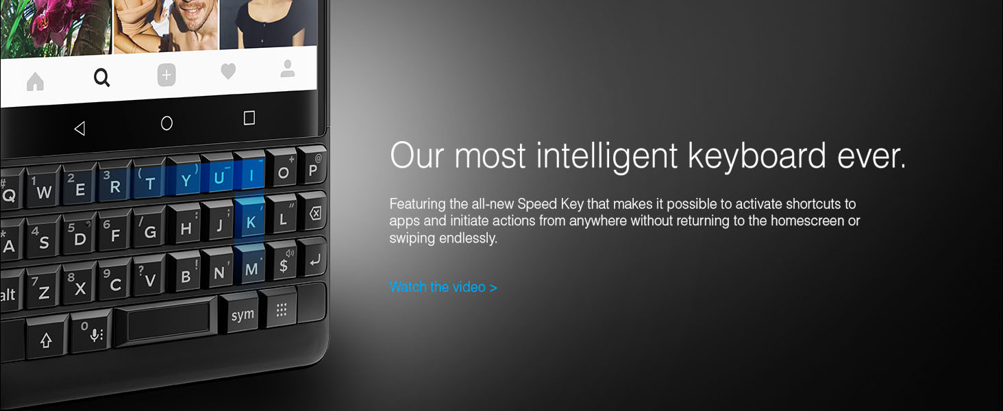BlackBerry KEY2 Android Smartphone Intelligent Keyboard