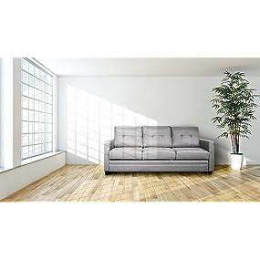 Divano letto a 3 posti grigio Furniture 247