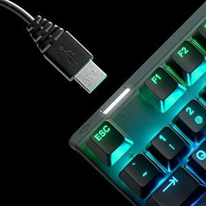 SteelSeries Apex Pro - Mechanical Gaming Keyboard - Adjustable Actuation Switches - Oled display