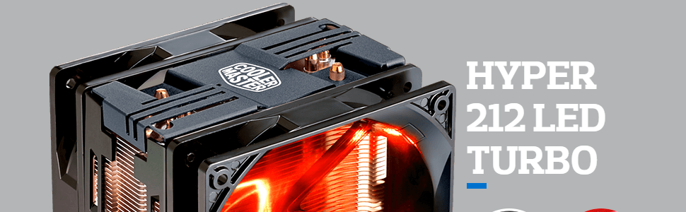 Cooler Master Hyper 212 Led Turbo Red Cover Xtraflo 120Mm Pwm Fan with Quick-Snap Fan Bracket Design