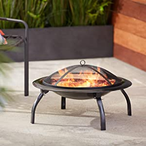 AmazonBasics Portable Folding 26 Inch Fire Pit