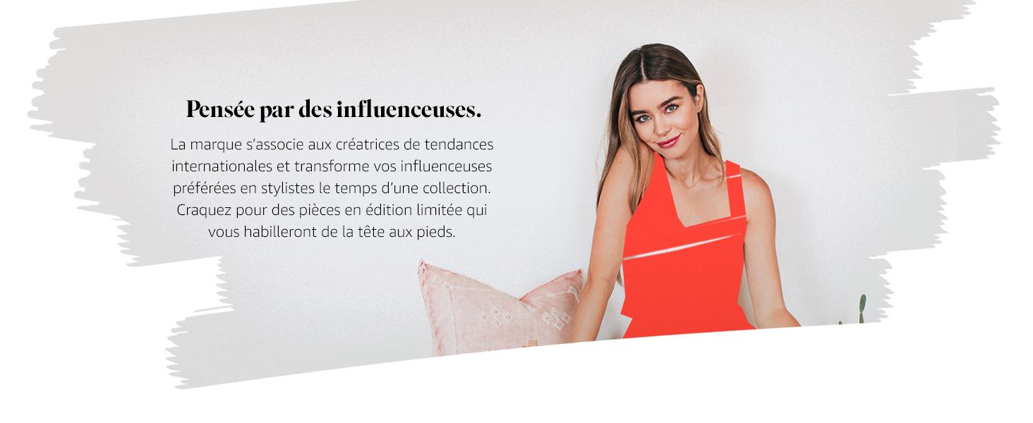 The Drop Paulina Mules Bicolores /à Bout Pointu pour Femme 35 EU Rose//Rouge