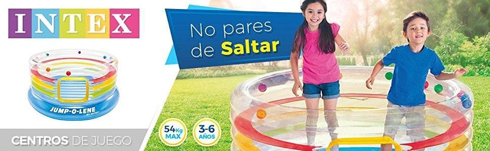 Intex - Saltador hinchable, transparente y con aros, 182 x 86 cm (48264)