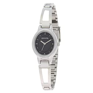 a8703759695 Buy Sonata Everyday Analog Black Dial Women s Watch -NK8085SM01 ...