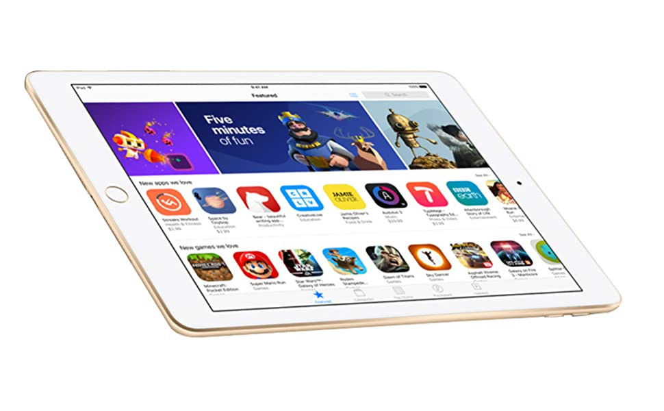 Apple iPad - March 2017-9.7 Inch Retina Display without Facetime - 32GB, WiFi, iOS 10, Gold