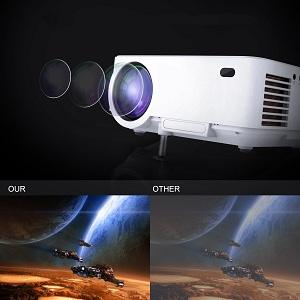 Amazon.com: Exquizon Mini Projector Support Screen Sharing