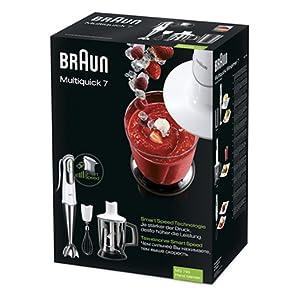 Braun Multiquick 7 Hand Blender 750 Watt, White - MQ745