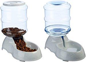 Paquete de dispensador de comida y dispensador de agua para mascotas