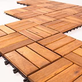 Vanage - Tarima de madera, set de 9, madera de acacia, aprox. 30 x ...