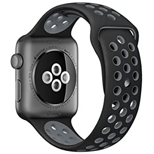 Invitación módulo Hamburguesa  Apple Watch Nike+ Series 2 - 42mm Space Gray Aluminium Case with Black &  Cool Grey Sport Band, watchOS 3, MNYY2AE/A: Buy Online at Best Price in KSA  - Souq is now Amazon.sa