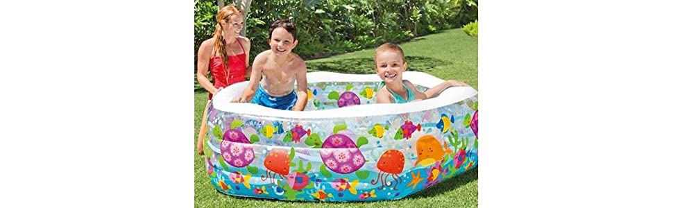 Intex 56493NP - Piscina hinchable hexagonal 191 x 178 x 61 cm, 510 ...