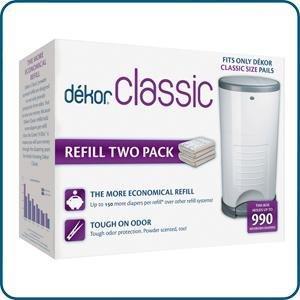 Diaper dekor classic diaper pail liner refills for Dekor classic diaper pail refills