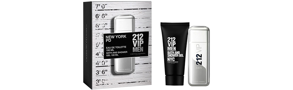 33d223a33 Carolina Herrera Gift set for men - 212 VIP Eau de Toilette - Bath and  Shower