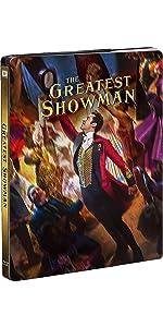 【Amazon.co.jp限定】 グレイテスト・ショーマン ブルーレイ版スチールブック仕様 (オリジナルアートカード4枚セット付) [Blu-ray]